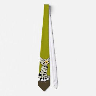 Cartoon Mummy Cat - Halloween Novelty Tie