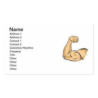 CARTOON MUSCLES MAN strong arm biceps athletic pow Business Cards