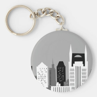 Cartoon Nashville Keychain
