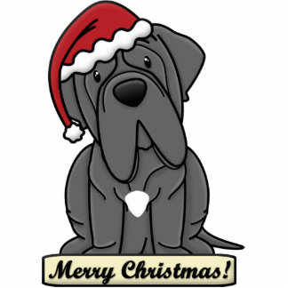 Cartoon Neapolitan Mastiff Christmas Ornament Photo Sculpture Ornament