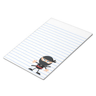 Cartoon Ninja Warrior Notepad