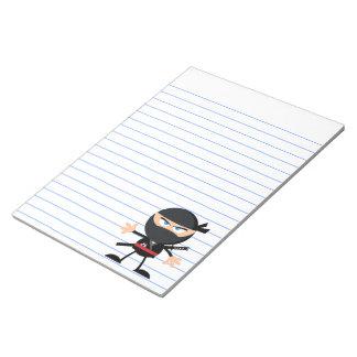 Cartoon Ninja Warrior Notepads