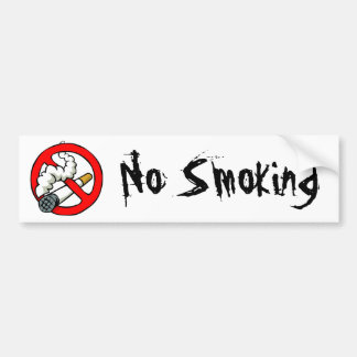 Cartoon No Smoking Sign Bumper Sticker