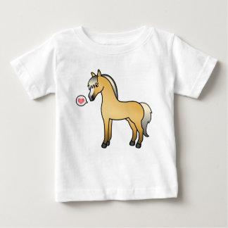 Cartoon Norwegian Fjord Horse Love Baby T-Shirt