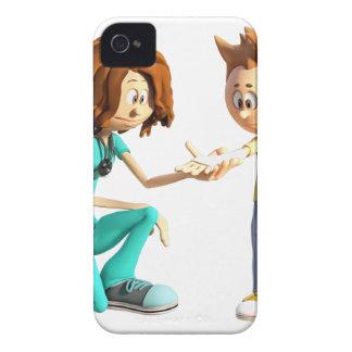 Cartoon Nurse and Little Boy iPhone 4 Cases