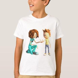 Cartoon Nurse and Little Boy T-Shirt
