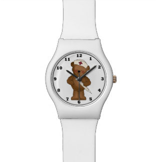 Cartoon Nurse Bear wrist watch