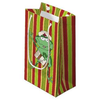 Cartoon nurse frog small gift bag