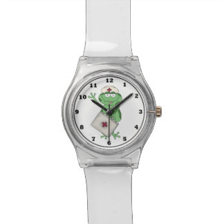 Cartoon Nurse Frog wrist watch