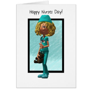 Cartoon Nurse, Nurses Day Greeting Card