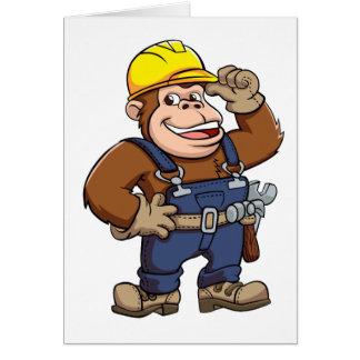 Cartoon of a Gorilla Handyman Card
