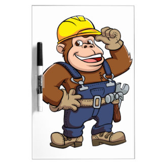 Cartoon of a Gorilla Handyman Dry-Erase Boards