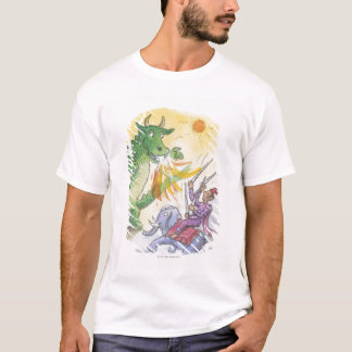 Cartoon of mythological fire breathing dragon T-Shirt