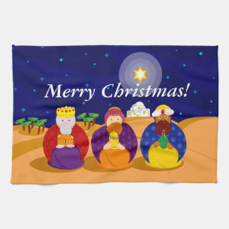 "Cartoon of ""The Three Kings"" / ""Three Wise Men"", Kitchen Towel"