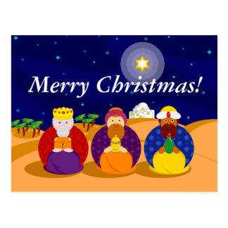 "Cartoon of ""The Three Kings"" / ""Three Wise Men"", Postcard"