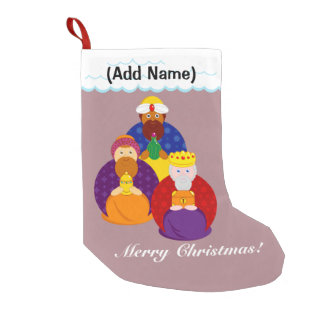 "Cartoon of ""The Three Kings"" / ""Three Wise Men"", Small Christmas Stocking"