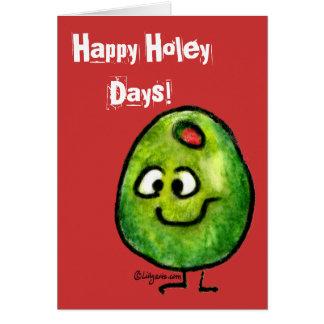 Cartoon Olive Holiday Greeting Card