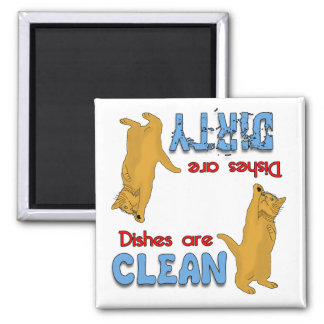 Cartoon Orange Cat Lovers Dishwasher Magnet