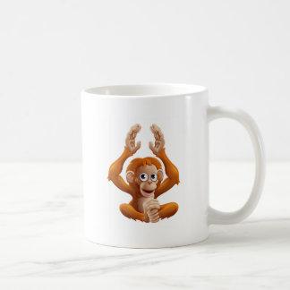 Cartoon OrangUtan Animal Character Coffee Mug