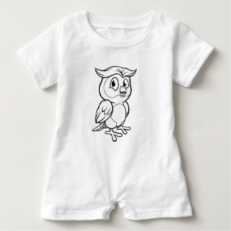 Cartoon Owl Character Baby Romper