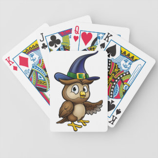 Cartoon Owl Character Bicycle Playing Cards