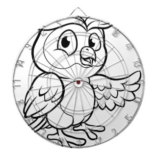 Cartoon Owl Character Dartboard