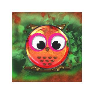 Cartoon Owl Design Canvas Print