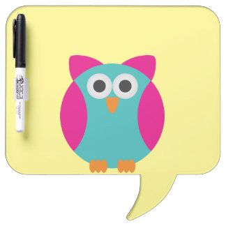 Cartoon Owl Dry Erase Board