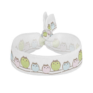 Cartoon Owl Family Hair Tie