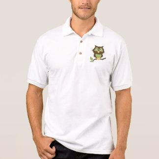 Cartoon Owl (green) Polo Shirt