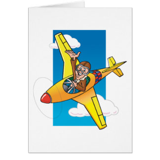 Cartoon P51 Card