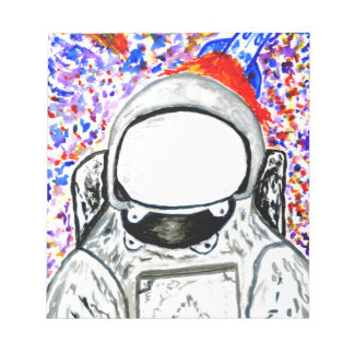 Cartoon Painted Astronaut Notepad