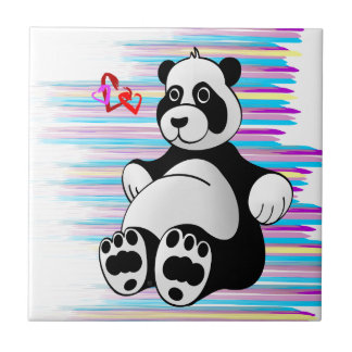 Cartoon Panda Bear Stuffed Animal Ceramic Tiles