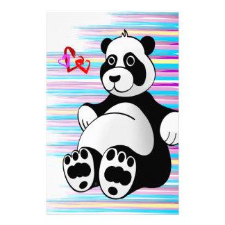 Cartoon Panda Bear Stuffed Animal Stationery