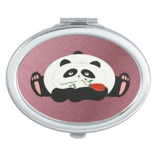 Cartoon Panda Funny Romantic Pink Girly Fat Cute Makeup Mirrors
