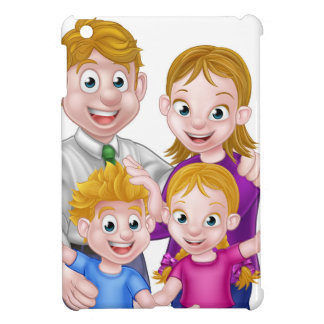 Cartoon Parents and Kids Case For The iPad Mini
