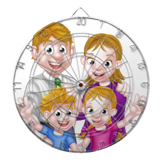 Cartoon Parents and Kids Dartboard