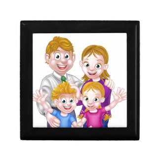 Cartoon Parents and Kids Gift Box