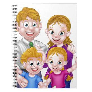 Cartoon Parents and Kids Notebooks