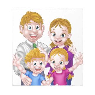 Cartoon Parents and Kids Notepad