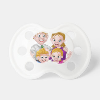 Cartoon Parents and Kids Pacifier