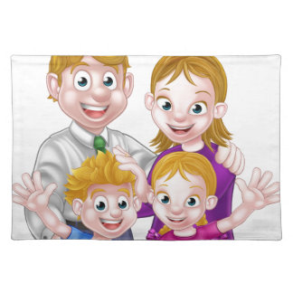 Cartoon Parents and Kids Placemat