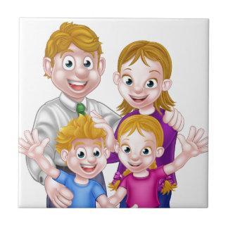 Cartoon Parents and Kids Tile