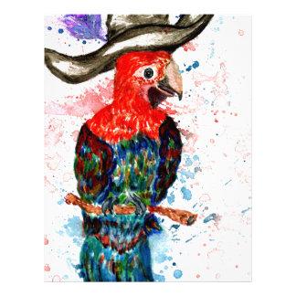 Cartoon Parrot Art01 Letterhead