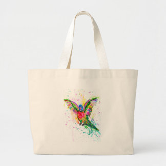 Cartoon Parrot Art03 Large Tote Bag