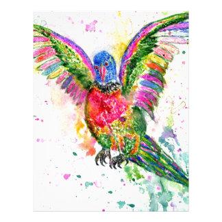 Cartoon Parrot Art03 Letterhead