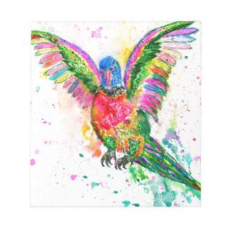 Cartoon Parrot Art03 Notepad