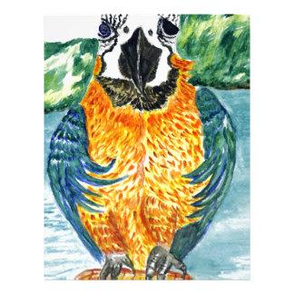 Cartoon Parrot Art2 Letterhead