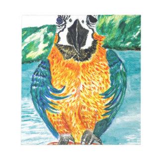 Cartoon Parrot Art2 Notepad