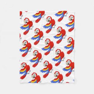 Cartoon Parrot Character Fleece Blanket